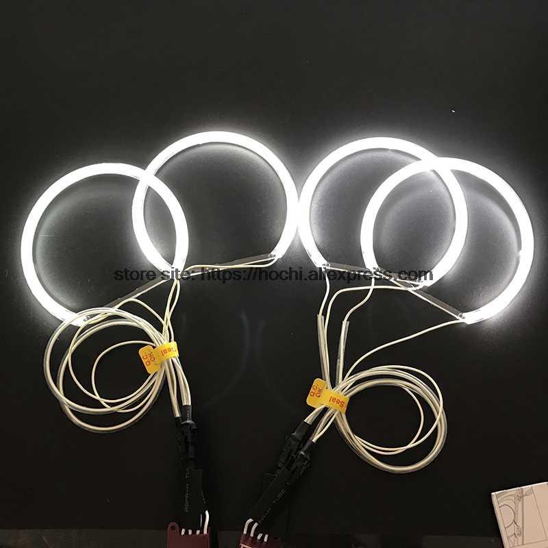 Elegantamazing 4 x 131 mm Blanco CCFL LED Ojos de /ángel Halo Anillos iluminaci/ón Faro para BMM E36 E46 E39 E38