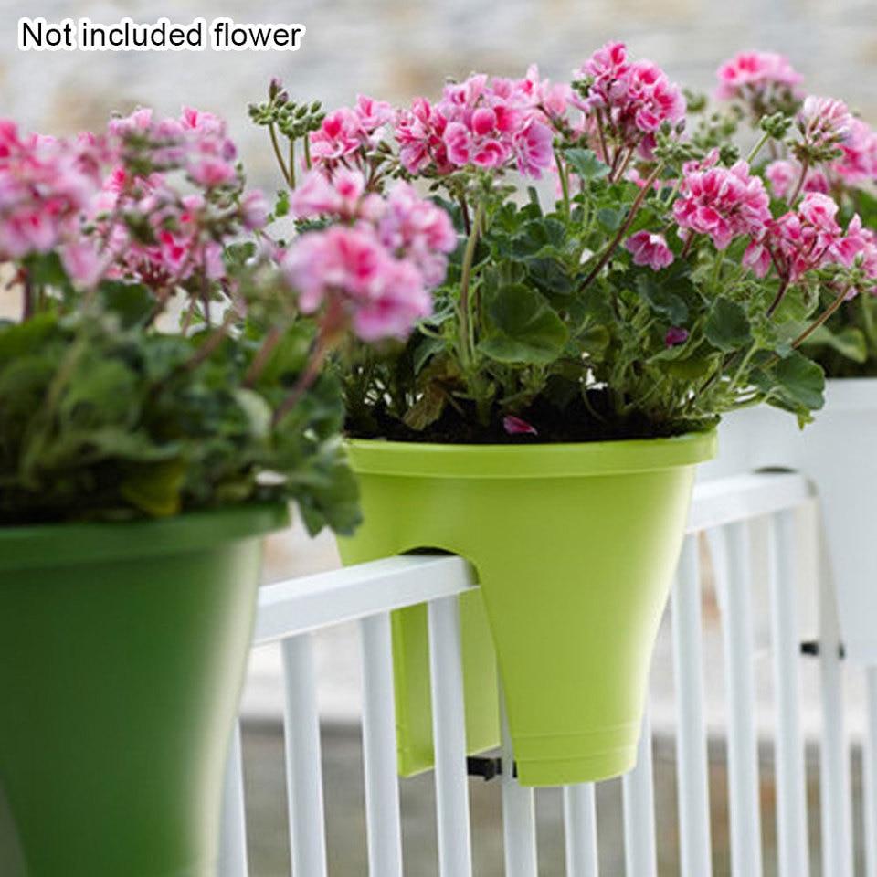 garden planter hanging over balcony railings