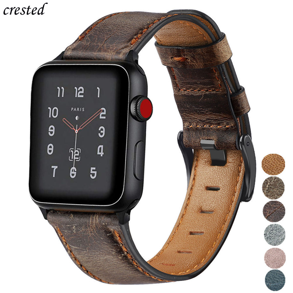 Retro Cow Leather Strap For Apple Watch Band 44 Mm 40mm IWatch Band 42mm 38mm Watchband Bracelet Apple Watch 5 4 3 21 38/42 44mm