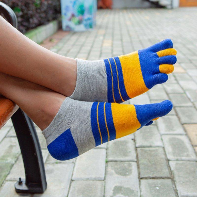 Summer Mens Socks Cotton Five Finger Socks Breathable Calcetines Male Ankle Casual Toe Socks
