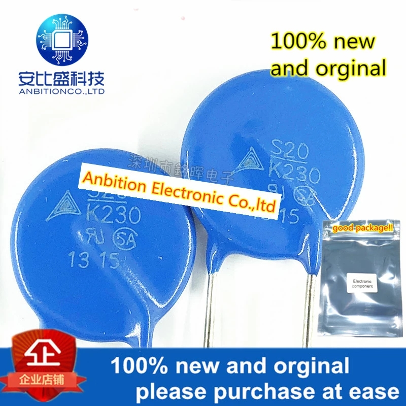 10pcs 100% New And Orginal Varistor B72220S2231K101 S20K230E2 S20K230 230V 20MM In Stock