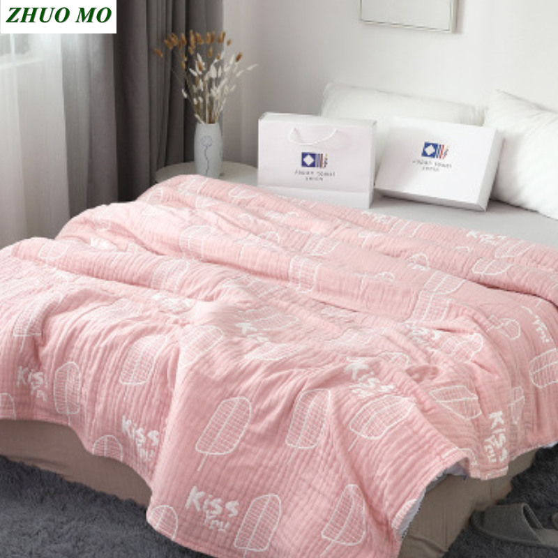 High quality towel quilt cotton blanket soft sheets for bed home gift decoration travel office nap 3 colors