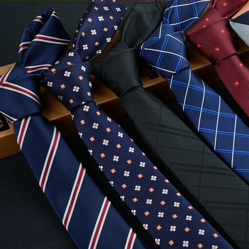 YISHLINE 6cm Ties For Men Skinny Tie Wedding Dress Necktie Plaid Cravate Business Gravatas Para Homens Slim Accessories Lot