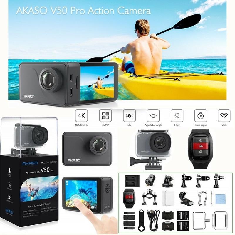 AKASO V50 pro 4K 20MP Wifi Ultra HD caméra d'action avec EIS télécommande étanche caméra de sport caméra sous marine plongée