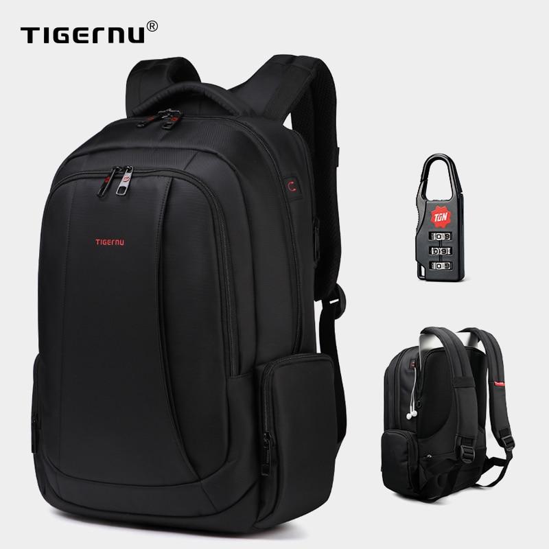 Tigernu – sac à dos Anti-vol en Nylon 27L pour hommes, pour ordinateur portable