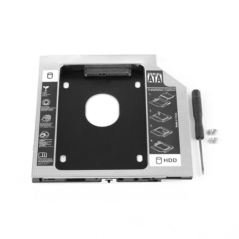Hard Disk Drive Bay Universal <font><b>2.5</b></font> 2nd 9.5mm Ssd Hd SATA Hard Disk Drive HDD Caddy Adapter Bay for Apple SuperDrive 21