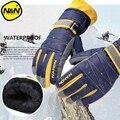 NANDN зимние теплые лыжные перчатки для горного катания на сноуборде  мужские и женские Лыжные рукавицы для холодного снега  водонепроницаемы...