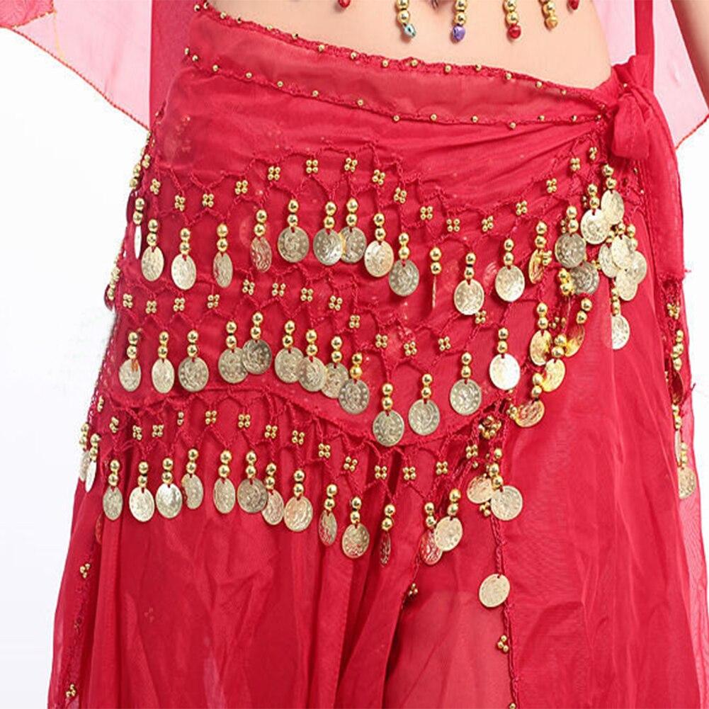 Women Sexy 3 Rows Belly Dance Hip Scarf Wrap Belt Belly Dancer Skirt Costume,13 Types For Choose Chiffon Dancer Skirt Women