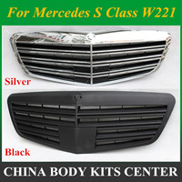 Front Bumper Auto Vehicle Grill For S Class W221 Mercedes S65 AMG Design Spare Parts 2010 2013
