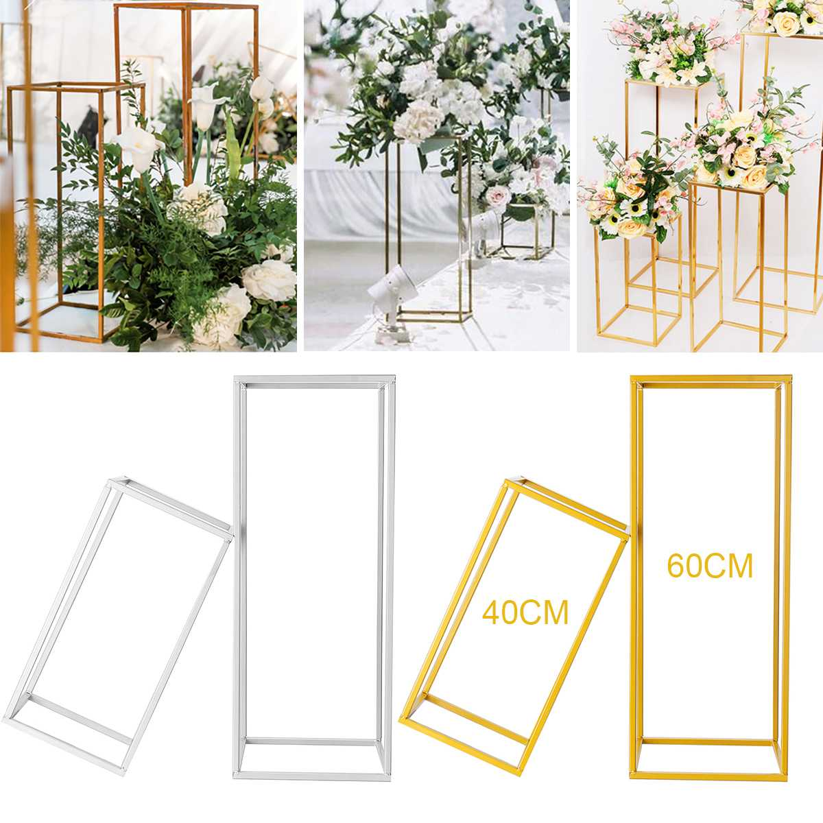 Vases Column Stand Rustproof Decoration Party Wedding Floor Geometric Holder Centerpiece Prop Iron Art Detachable Flower Rack