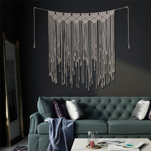 Image 4 - Boho Wedding Macrame Curtain Tapestry Cotton Handmade Wall Hanging Backdrop DIY Room Rustic Wedding Party Decoration DA