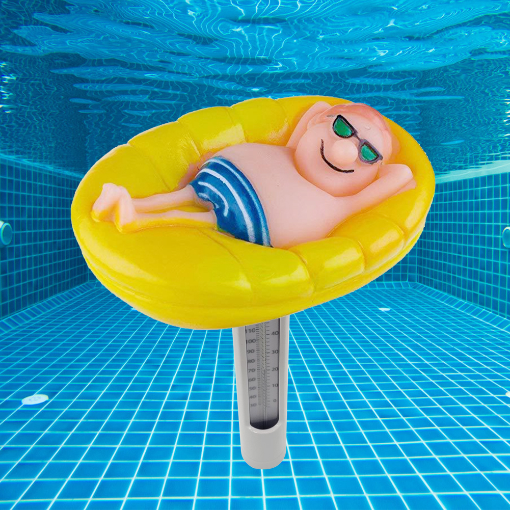 Cartoon Drifter Swimming Pool Thermometer Water Temperature Measurement Instrument Spa Hot Tubs Fish Ponds Floating Probe