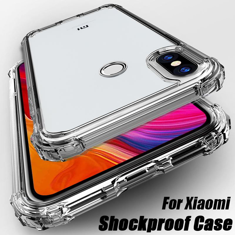 Silicone TPU Case For Xiaomi mi 9 SE A3 Lite CC9E CC9 10 9t Shockproof Cover For Redmi Note 8 8T 7 7A 6 6A 5 Plus 4X K30 K20 Pro(China)
