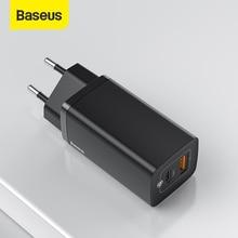 Baseus 65W GaN Chargeur PD USB C Chargeur Rapide 4.0 3.0 double Port USB Chargeur de Téléphone ForiP ForXiaomi Samsung Ordinateur Portable