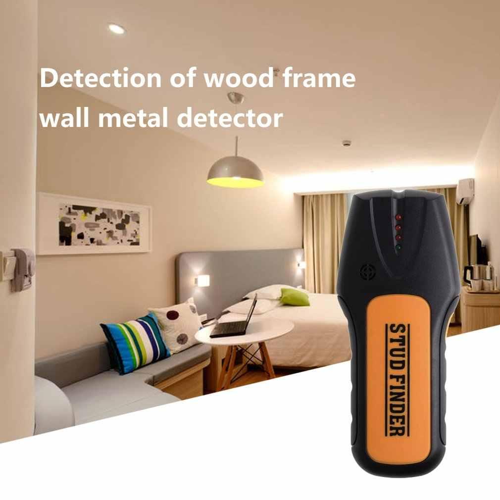 Портативный размер металлоискатель найти металл, дерево, штифты переменного напряжения живой провод обнаружения стены сканер электрическая коробка искателя детектор стены