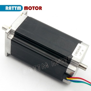 NEMA23 425Oz-in Dual shaft stepper motor 112mm 12-24V/DC 280N.cm CNC stepping motor 3A for Large CNC Rouer Milling Machine image