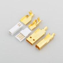 Hi end позолоченный usb разъем a + b Тип для diy кабель сделано