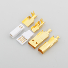 하이 엔드 골드 도금 USB 커넥터 USB A + USB B 타입 A B 플러그 DIY USB 케이블 대만 만든