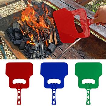 BBQ Outdoor Manual Crank Fan Blower Combustion-supporting Hand Barbecue Grill Barbeque bbq accessories 1 5pcs tanie i dobre opinie CN (pochodzenie) Zestawy narzędzi Łatwo czyszczone Odporność na ciepło Z tworzywa sztucznego Nie powlekany Narzędzia