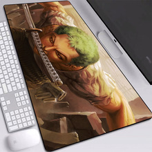 Big Mouse Pad Non-Skid Rubber Japan Popular Anime One Piece Zorro Gaming Laptop PC Desk Mat for CSGO Dota Keyboard