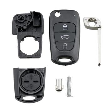 OLOMM New Remote Key Shell For Hyundai I20 I30 IX35 I35 Accent Kia Picanto Sportage K5 3 Buttons Flip Folding Remote Key Case silicone key cover for kia rio k2 k5 sportage sorento fit i20 i30 i35 ix20 ix35 solaris verna folding key case