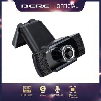 Diure X22-cámara web USB 1080p Full HD, cámara gran angular con micrófono para PC, escritorio, portátil, cámara de 2MP, USB 2,0
