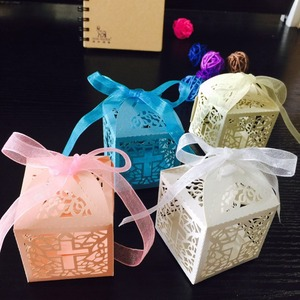 Image 2 - 50 sztuk/partia DIY skrzyżowanie pudełka cukierków anioł pudełko na Baby Shower chrzest urodziny pierwsza komunia chrzciny wielkanocne dekoracje
