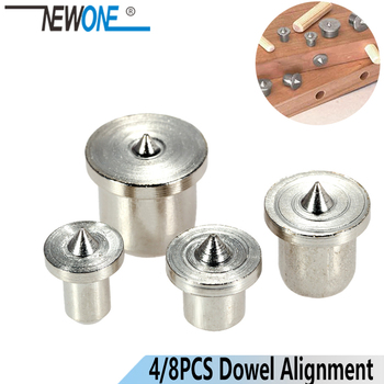 4pcs/set Dowel Tenon Center Set Woodworking Top Locator Roundwood Punch Wooden furniture centering point - discount item  25% OFF Drill Bit