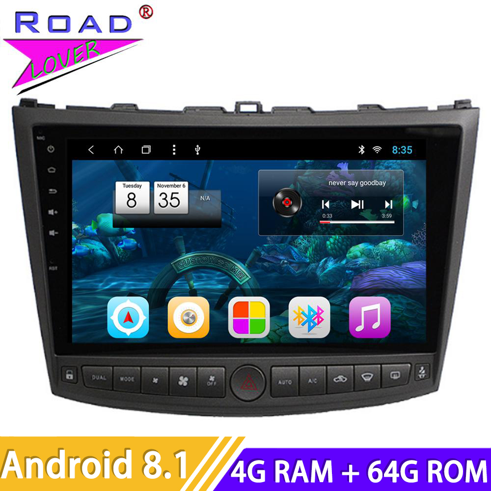 Car Radio Android 8.1 10.1'' DVD Player For Lexus IS250 IS300 IS200 IS220 IS350 2005-2012 Stereo 2 Din Head Unit GPS Navigation image