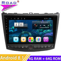 Car Radio Android 8.1 10.1'' DVD Player For Lexus IS250 IS300 IS200 IS220 IS350 2005-2012 Stereo 2 Din Head Unit GPS Navigation