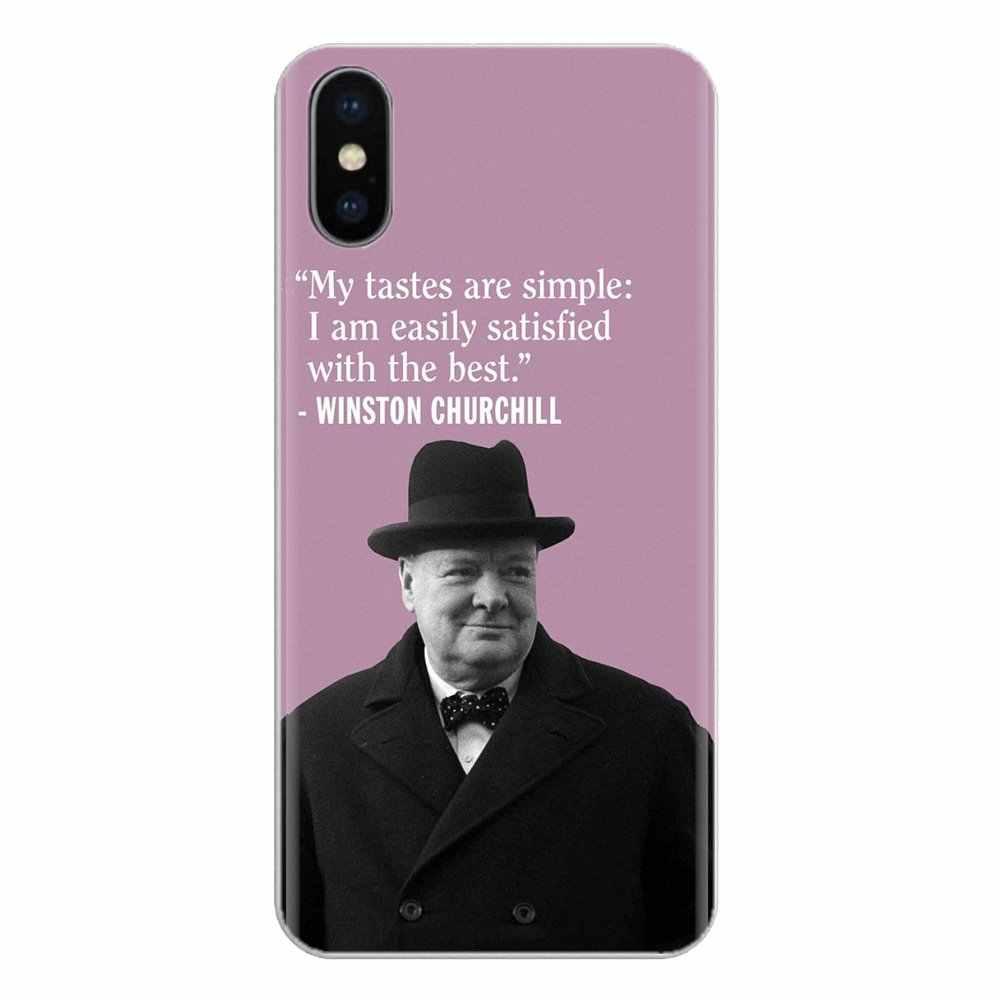 Huawei Nova 2 için 3 2i 3i Y6 Y7 Y9 başbakan Pro GR3 GR5 2017 2018 2019 Y5II Y6II Winston leonard Spencer Churchill cep telefonu kapak