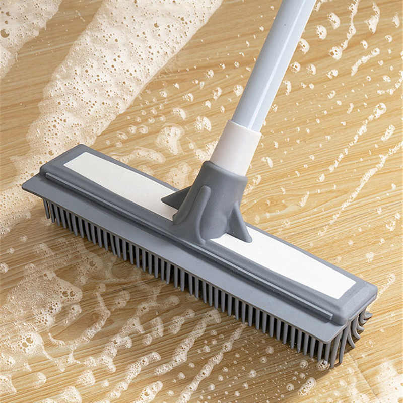 long handle cleaning brush pole tiles brush bathroom wall floor free rotation bathroom cleaning tools stretchable aluminum