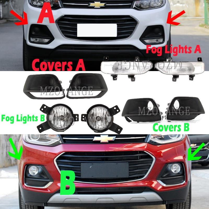 Fog Lights For Chevrolet Trax 2017 2018 2019 Fog Light Frame Headlight Foglights Grille For Tracker Cover Bezel Harness Kit
