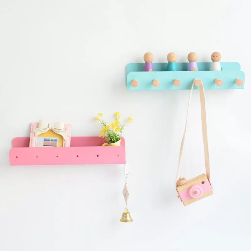 Kids Room  Hooks Decorative Hooks For Children Room Nordic Rainbow Hook Hangers Home Decorations  Children Wall Hooks Decoration