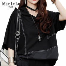 Max LuLu 2020 New Summer Korean Fashion Designer Ladies Punk Tee Shirts