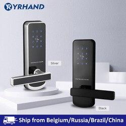 Sicherheit Elektronische Türschloss, APP WIFI Smart Touch Bildschirm Sperren, Bluetooth Digitale Code Tastatur schloss mit 6085 Einsteckschloss