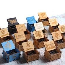 Королева Игра престолов антикварная резная деревянная ручная музыкальная шкатулка Рождественский подарок на день рождения Декорация