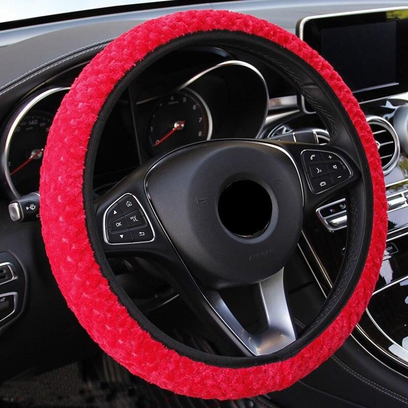 Рулевые Чехлы Плюшевые чехол рулевого колеса автомобиля зимнее