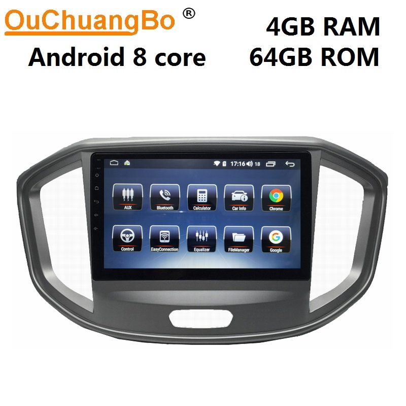 Ouchuangbo multimedia gps radio for JAC Refine M4 with android 9.0 system 9 inch 8 core 4GB RAM 64GB ROM
