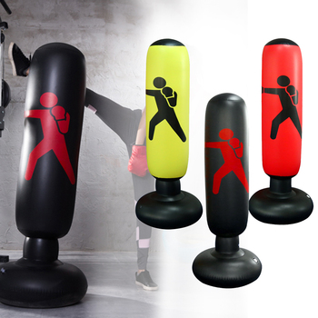 Vertical Inflatable Boxing Column Fitness Decompression Hitting Thickening Foldable Easy to Move Fitness Equipment Accessories 3