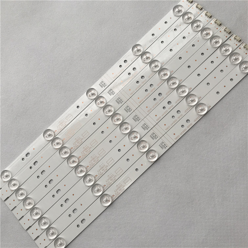 8PCS 405mm LED Backlight Strip 5 Lamp For Skyworth 43 Inch 5800-W43001-5P00 VER02.0 E249823 05-1A035A-03A Tv Parts