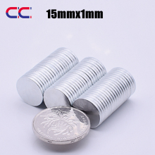 50/100/200pcs Neodymium magnet 15*1 mm N35 Rare Earth small Strong Round permanent fridge NdFeB nickle magnetic sheet