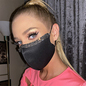 Shiny Rhinestone Crystal Face Mask Jewelry for Unisex Simple Sexy Nightclub Party Face Accessory Gift