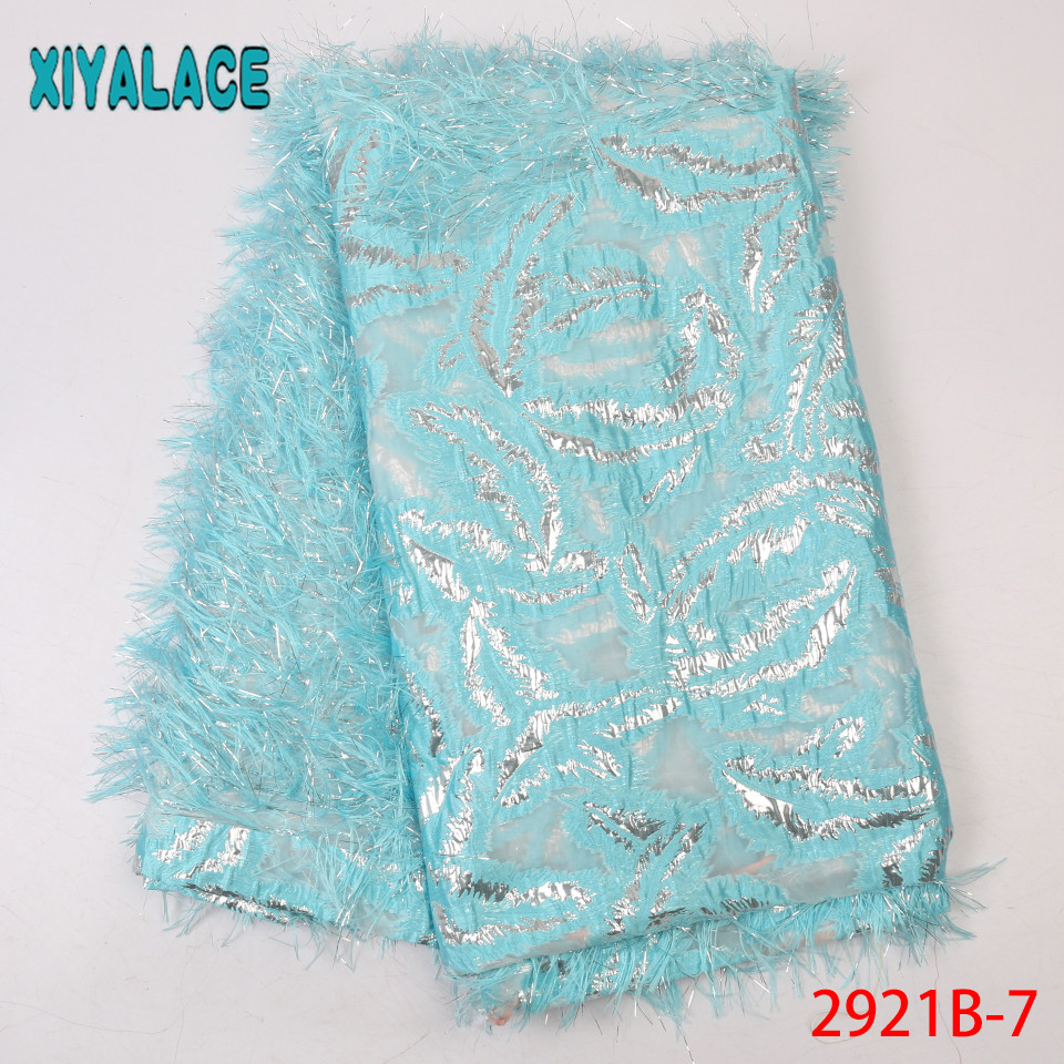 French Laces Fabrics High Quality Tulle Latest French Brocade Laces Fabrics African Fabric Lace For Women Dresses KS2921B-7