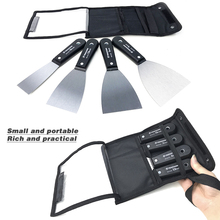 4PCS Portable Putty Knife Scraper Blade With Plastic Handle Wall Scraper Shovel,Carbon Steel Construction Tool Plastering Knife