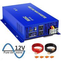XYZ INVT 2500 watt Pure Sine Wave Inverter Power Converter 12v 24v 36v 48v dc to ac 120v 240V LED Display Inverters