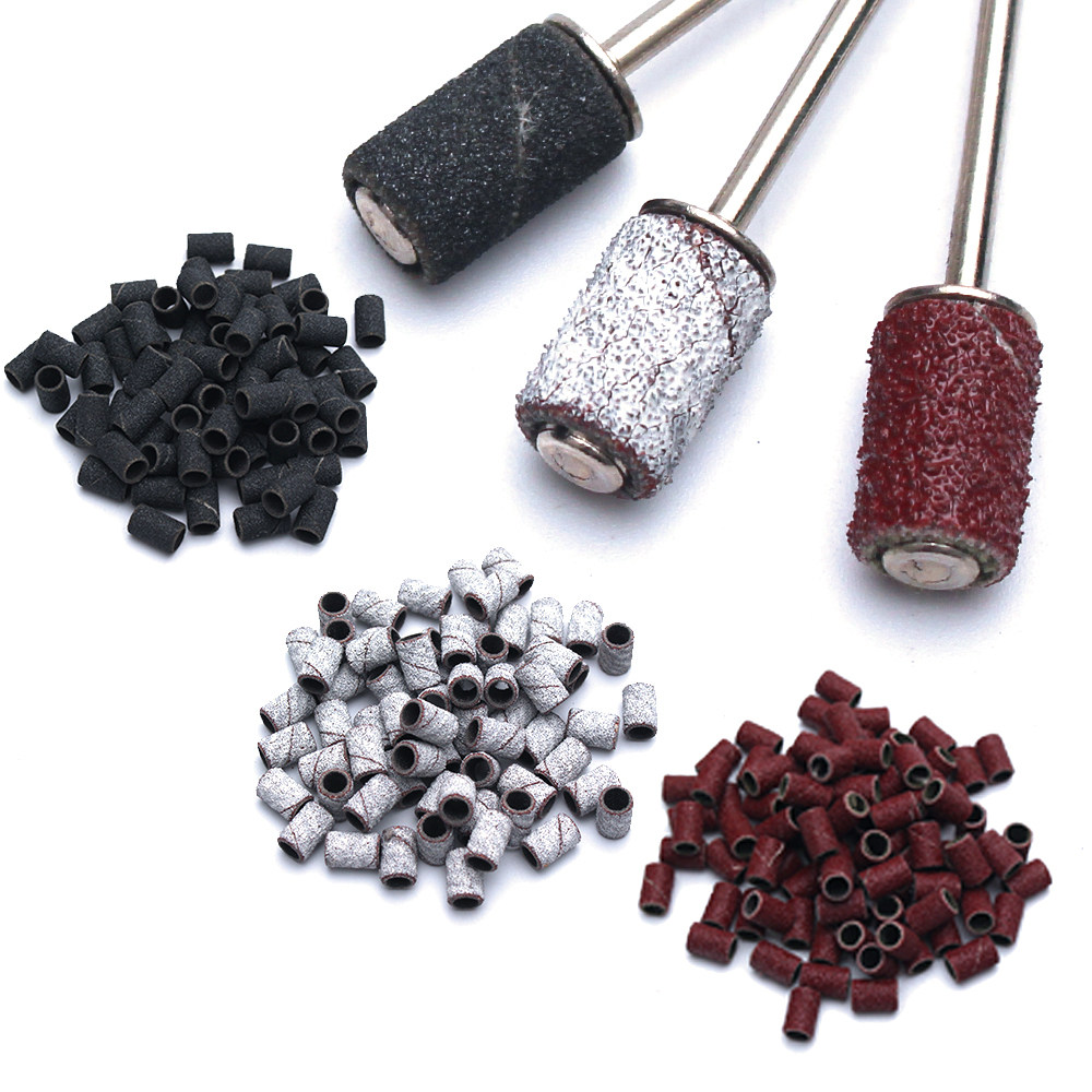 100pcs Nail Art Sanding Bands 80 120 180 Grinding Sand Ring Bit For Electric Drill Machine Accessories Manicure Tools Special Deal 1d840e Cicig