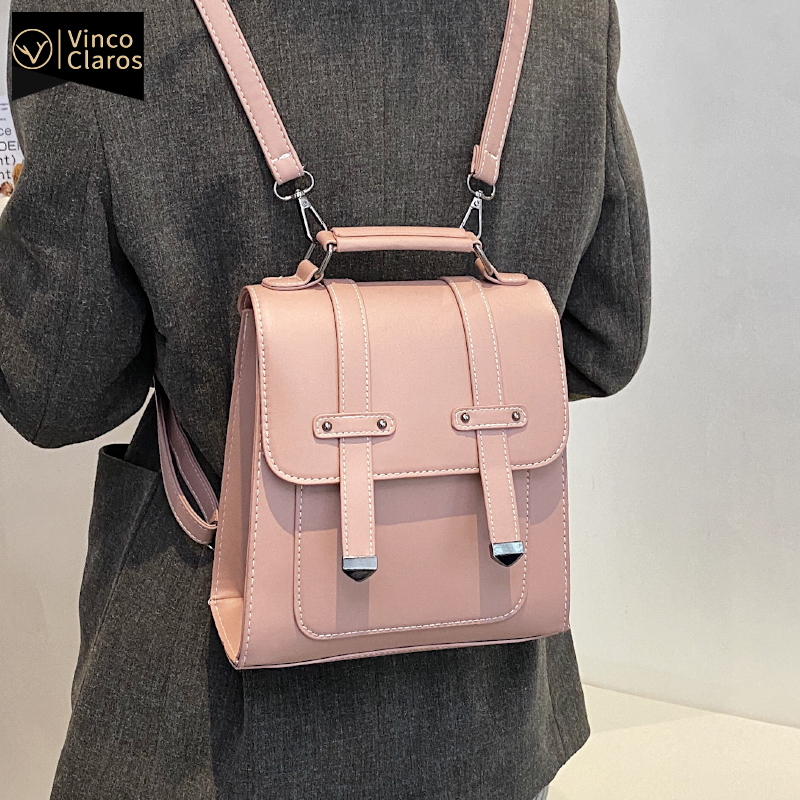 Fashion PU Leather Backpack Purse for Women New Trend Small Mini Back Pack In 30cm Travel Mochilas Para Mujer Multifunction Bags