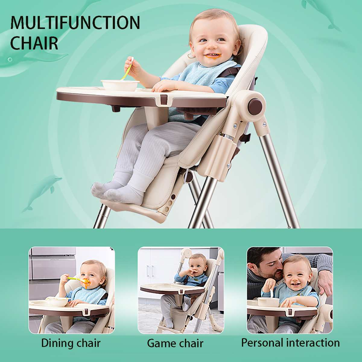 High Chair Seat Sit-Right Highchair with Dishwasher safe tray Dinner-Plate  Baby Chairs Seat  Baby Chair Wheels Tot Spot