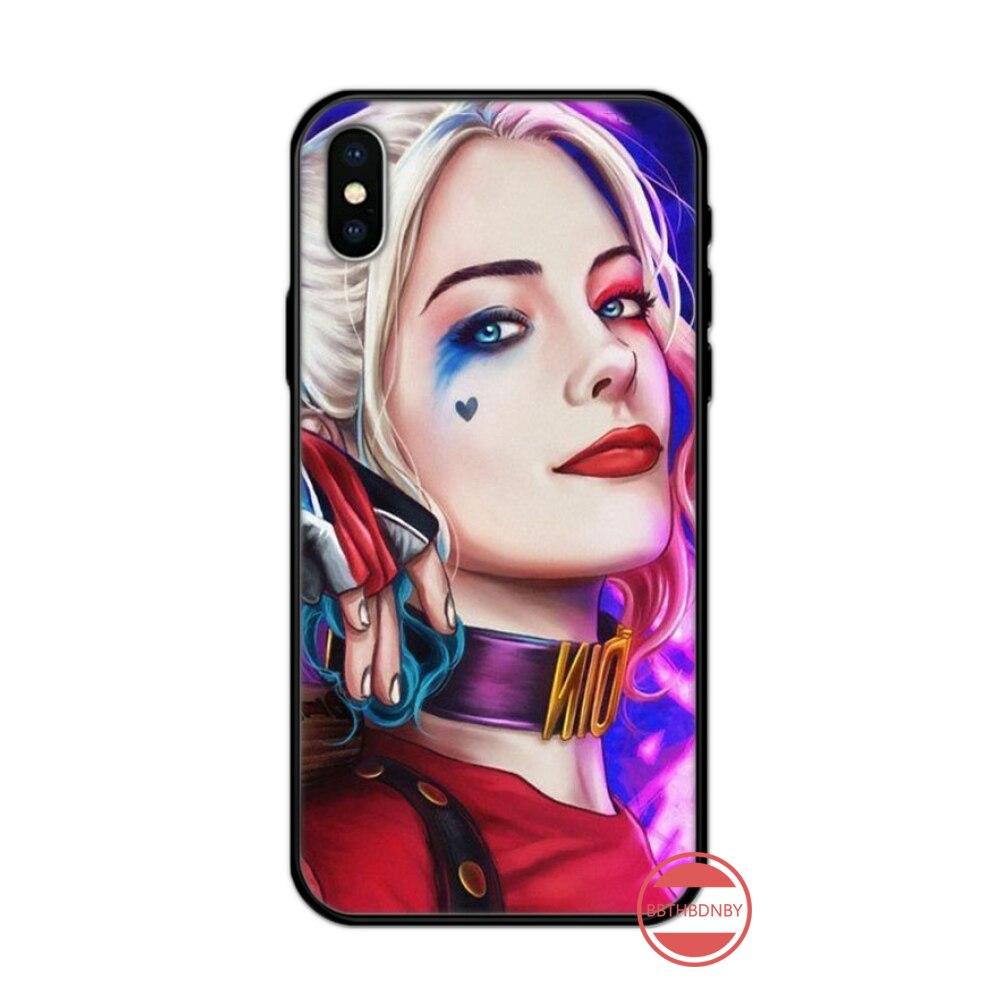 Harley Quinn Suicide Squad Luxury Unique Design Phone Cover For iphone 5 5s 5c se 6 6s 7 8 plus x xs xr 11 pro max